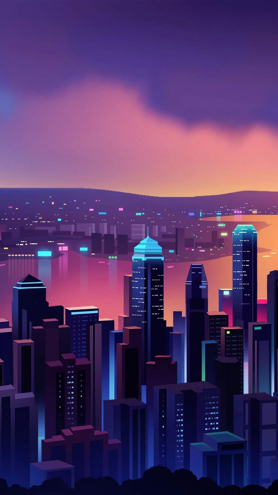 City Minimalism iPhone Wallpaper