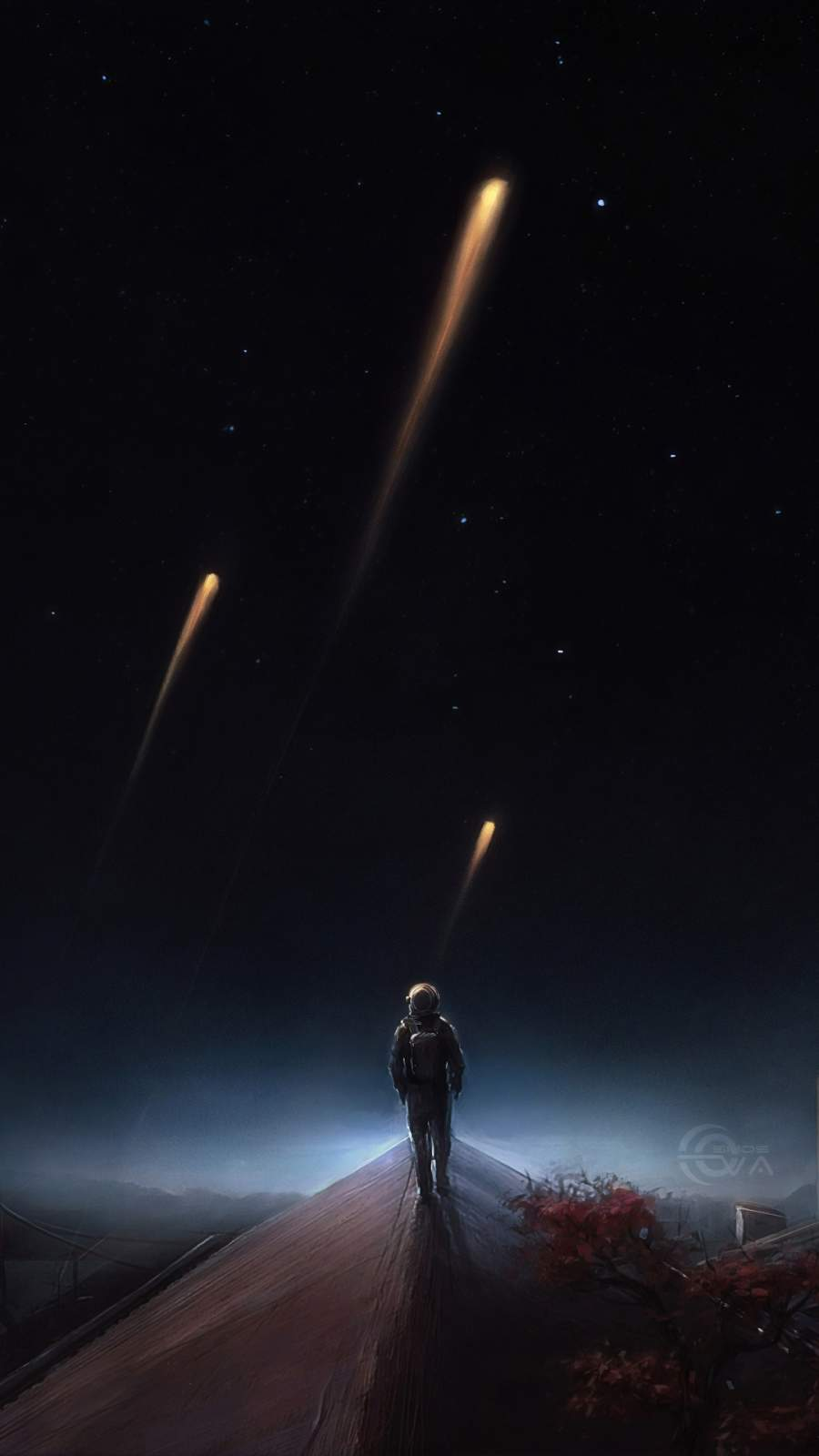 Close to The Stars iPhone Wallpaper