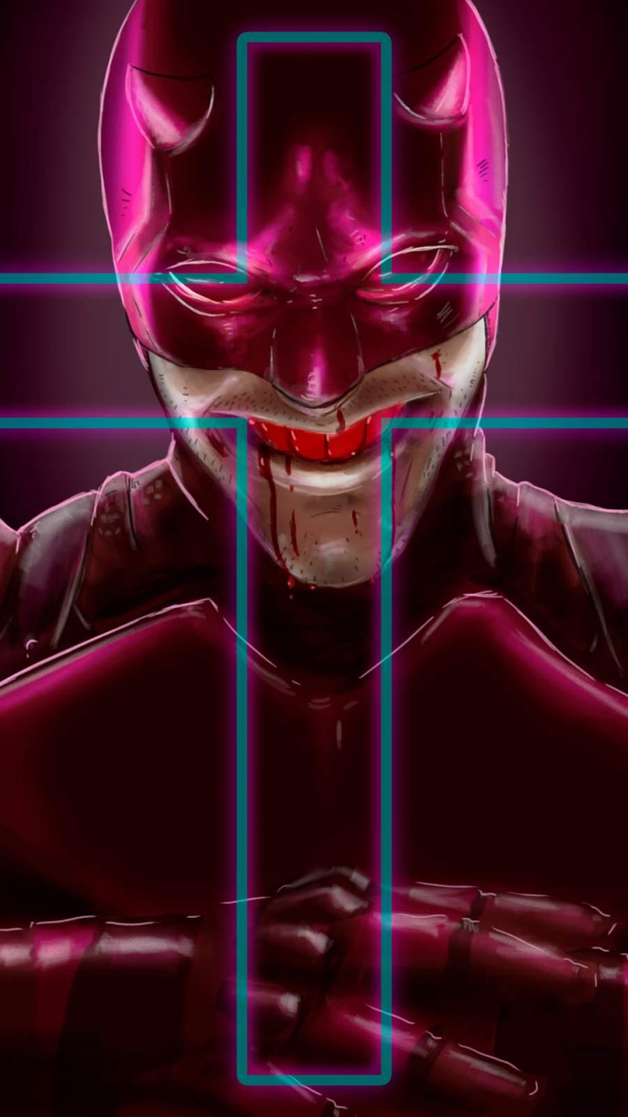 Daredevil illustration iPhone Wallpaper