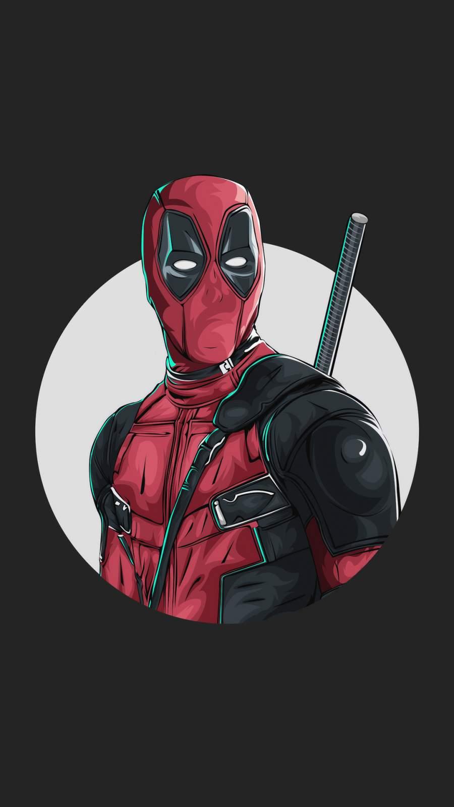 Deadpool Art iPhone Wallpaper