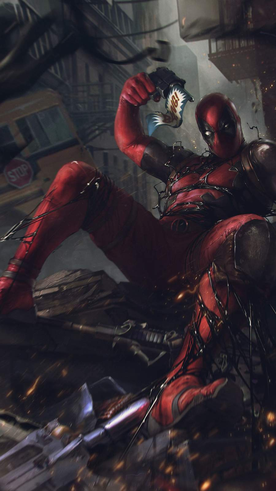 Deadpool vs Venom iPhone Wallpaper