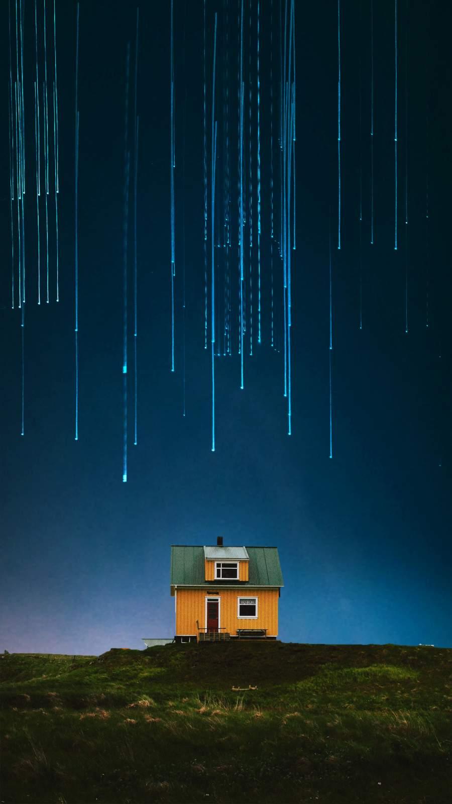 Falling Stars iPhone Wallpaper