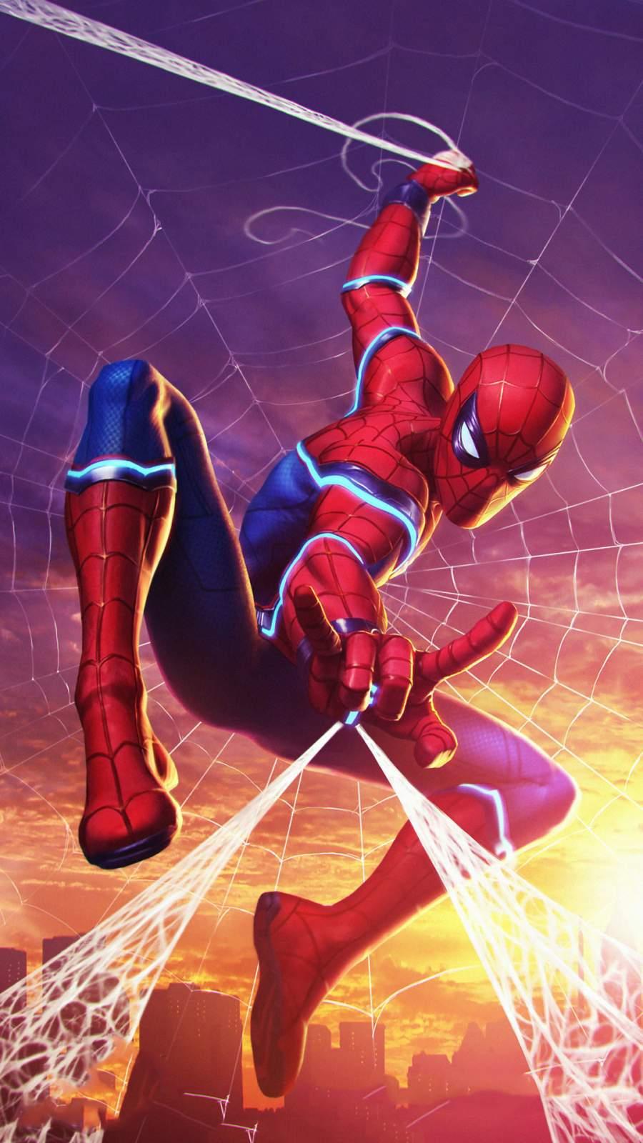 Future Spiderman iPhone Wallpaper