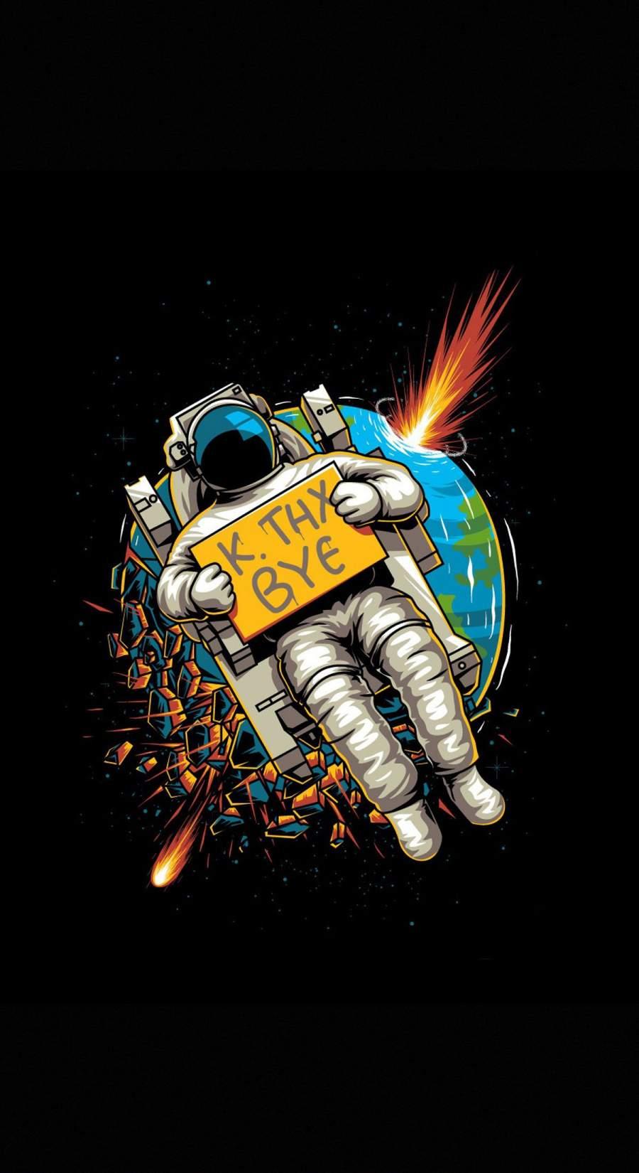 Goodbye Astronaut iPhone Wallpaper