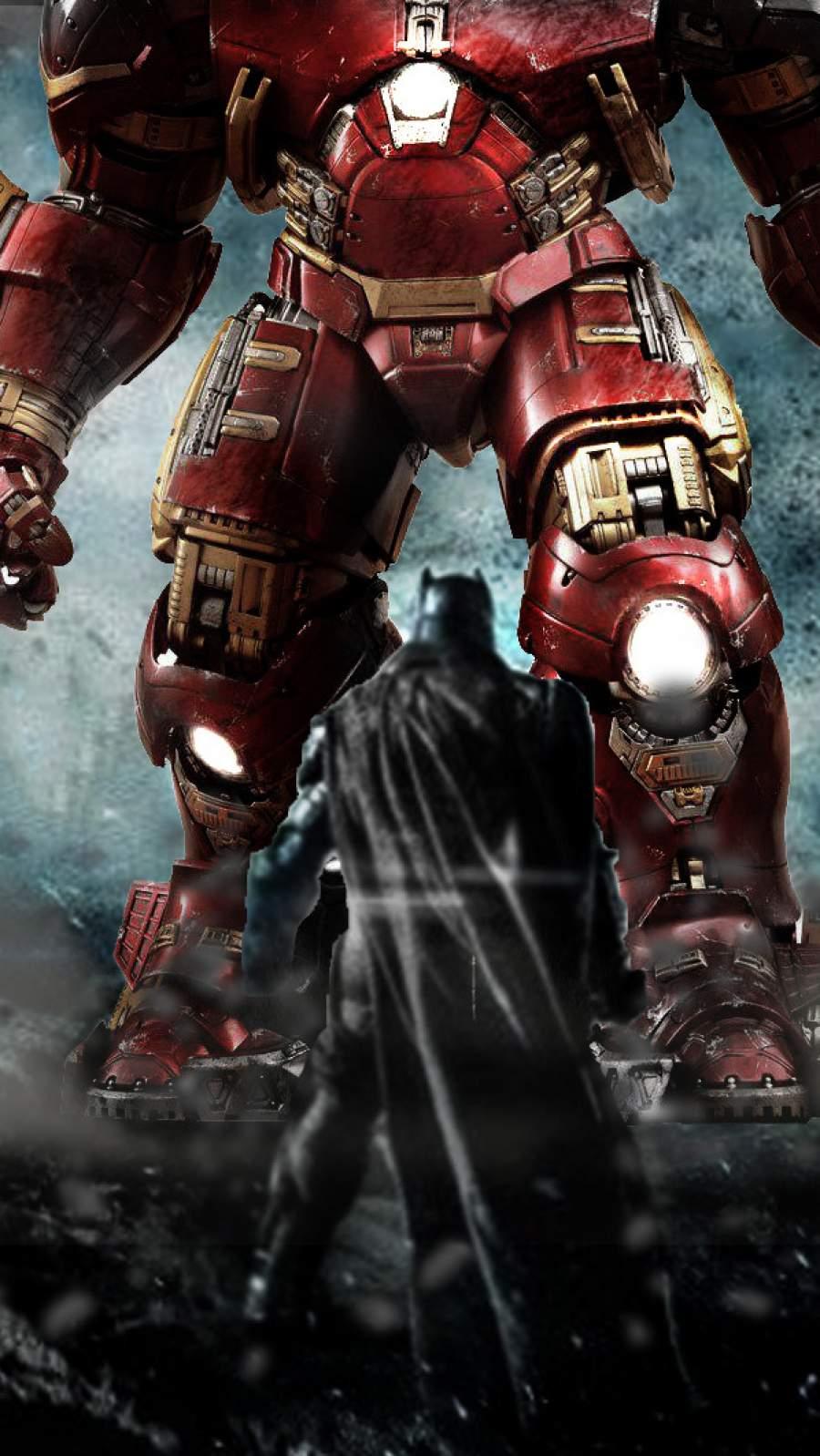 Hulkbuster vs Batman iPhone Wallpaper