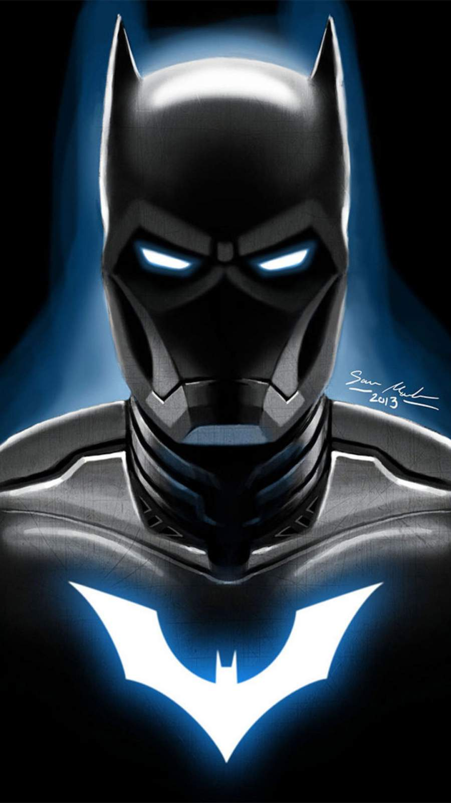 Iron Batman Artwork iPhone Wallpaper
