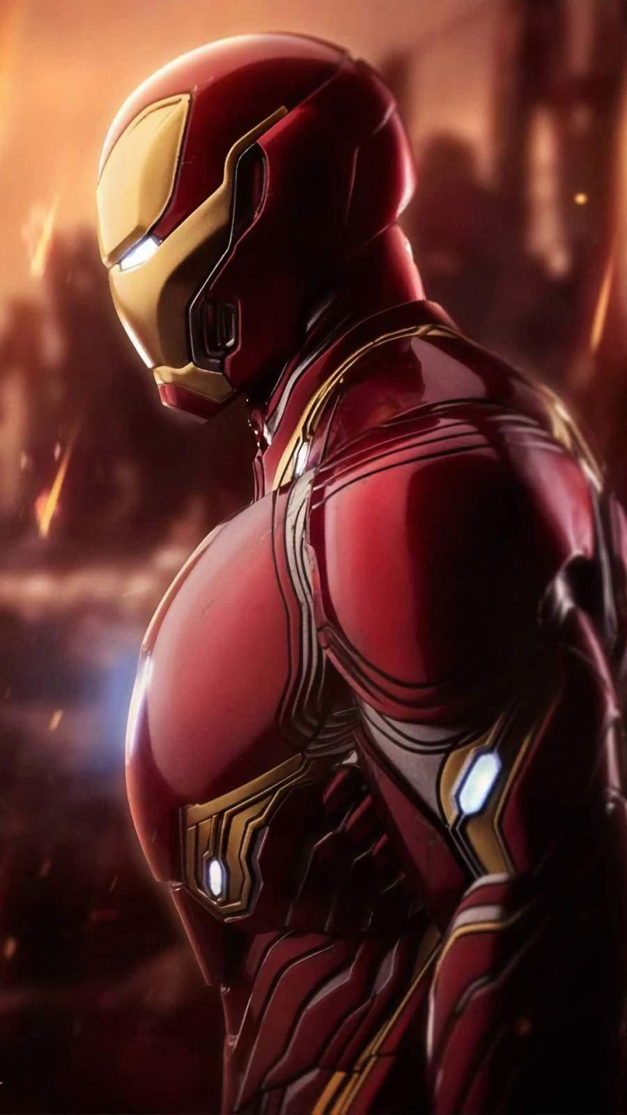 Iron Man Mark 85 Closeup iPhone Wallpaper
