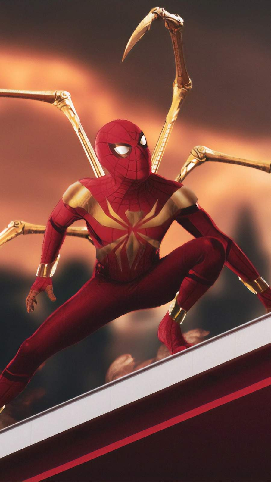 Iron Spiderman Future Suit iPhone Wallpaper