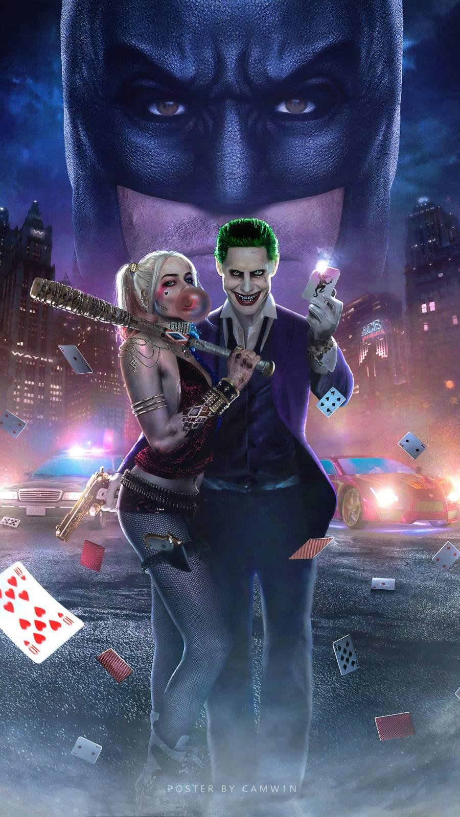 Joker and Harley Quinn iPhone Wallpaper