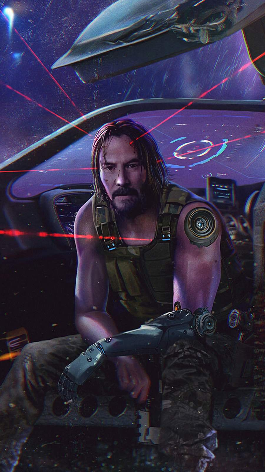Keanu Reeves Cyberpunk iPhone Wallpaper 1
