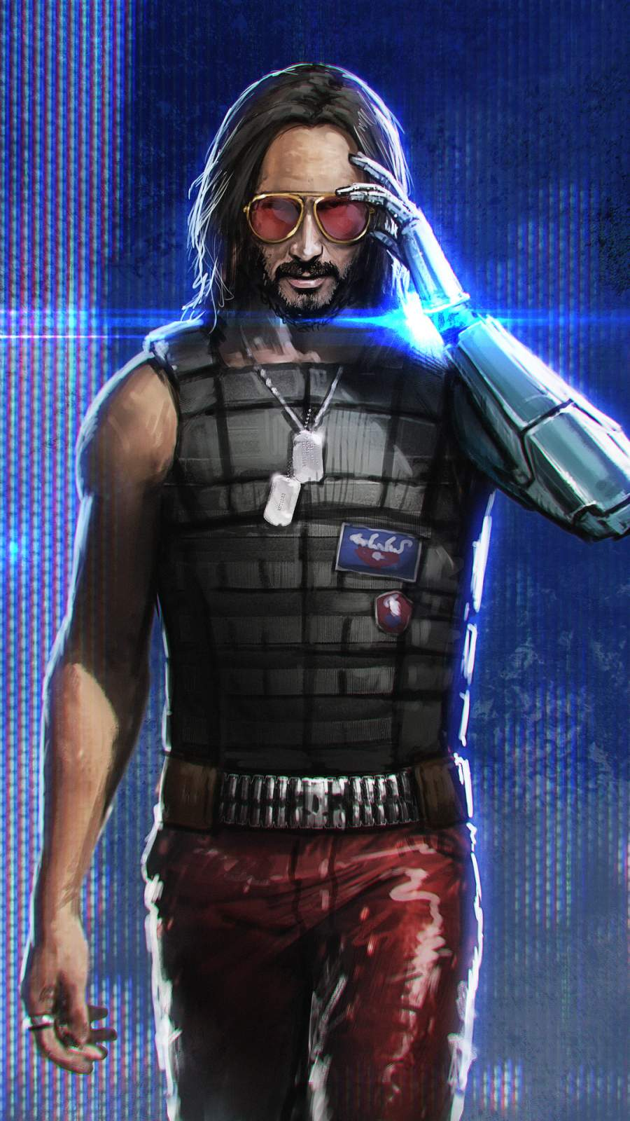 keanu reeves cyberpunk iphone wallpaper
