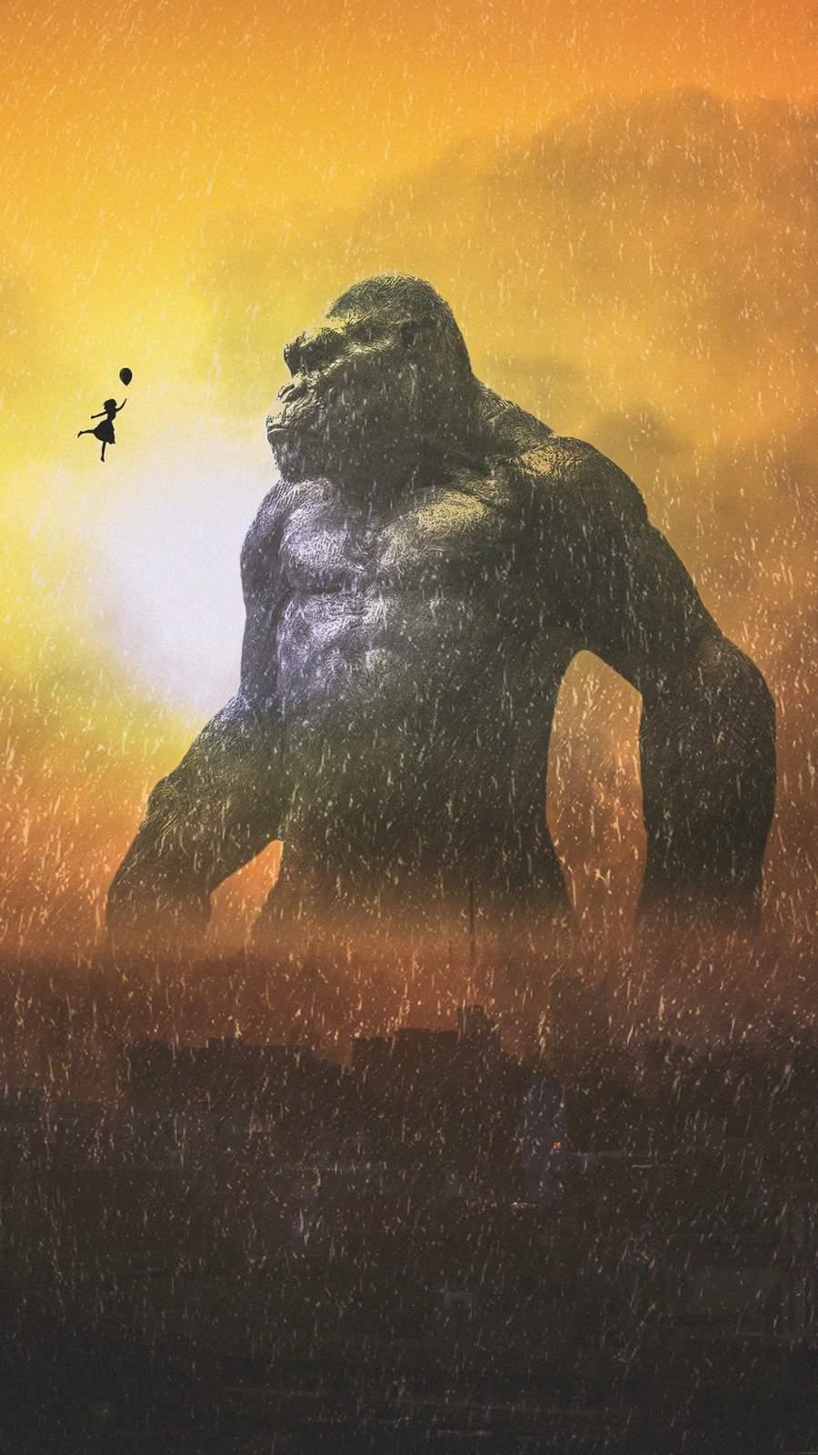 King Kong and Girl iPhone Wallpaper