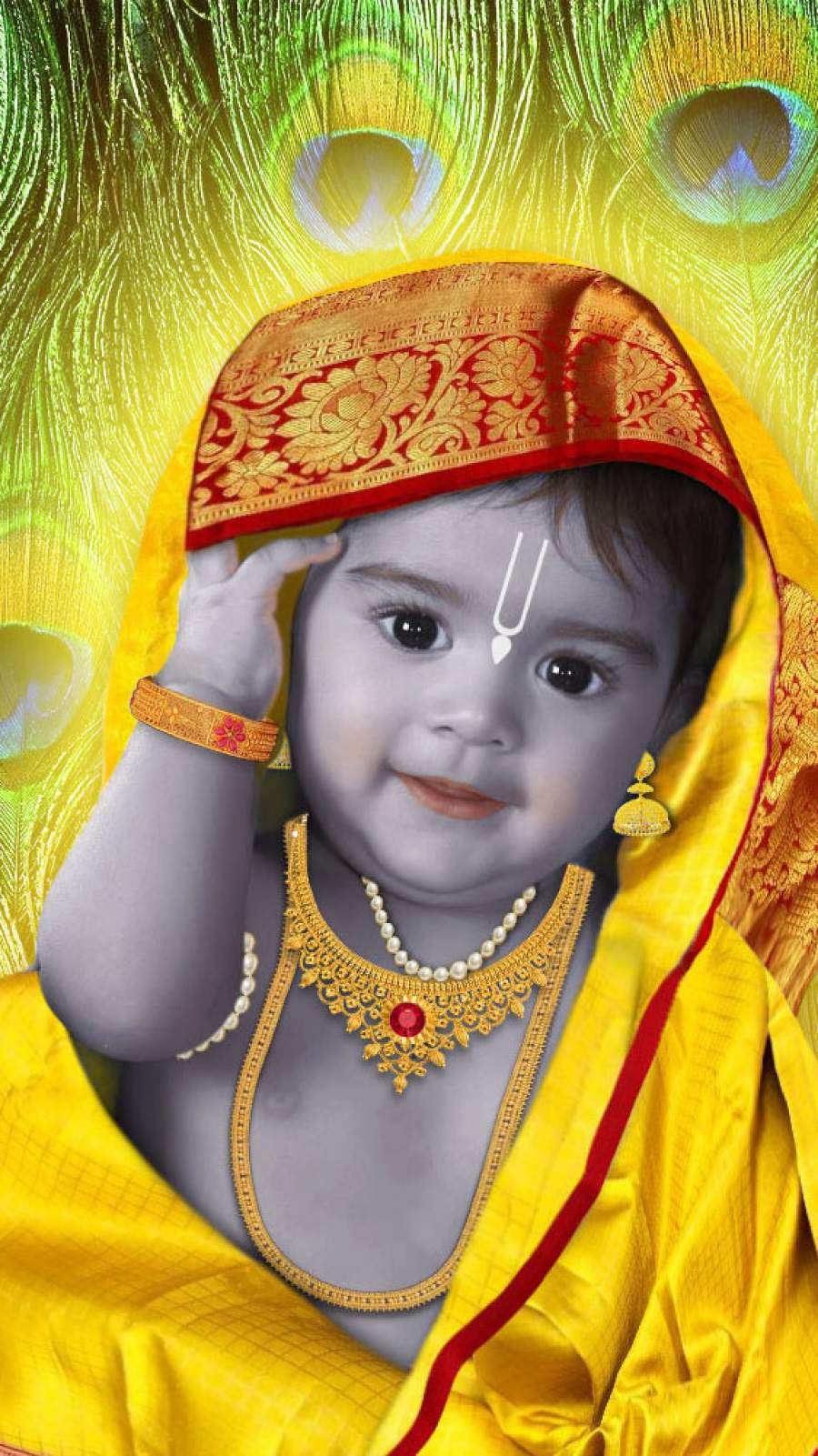 Krishna Janmashtami iPhone Wallpaper