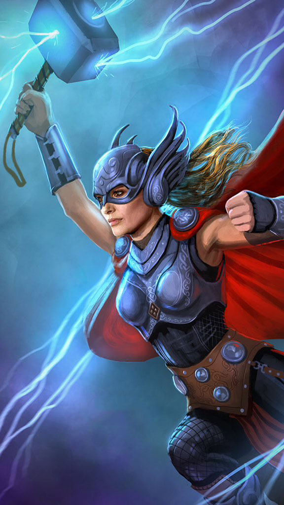 Lady Thor iPhone Wallpaper