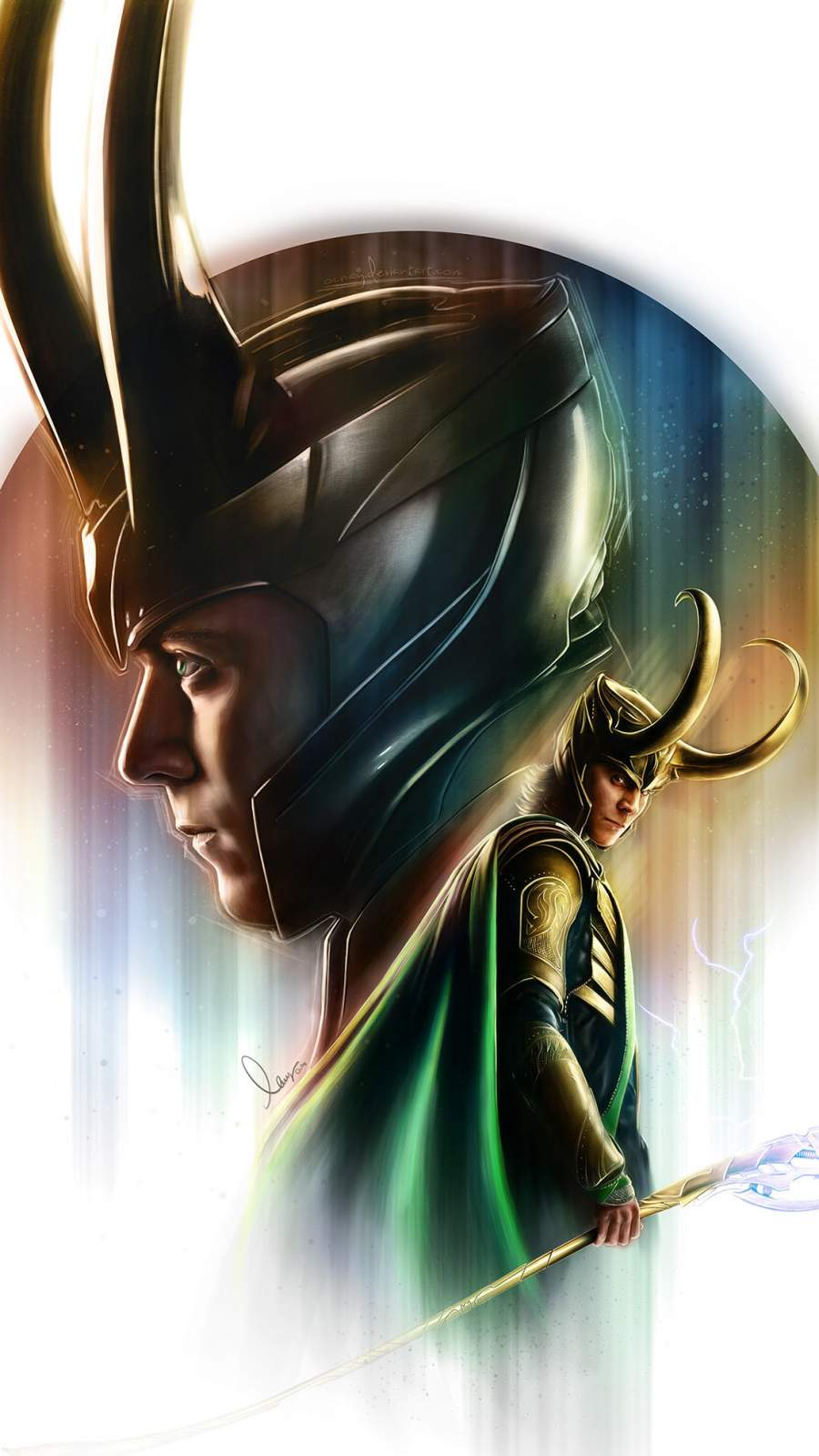 Loki Art iPhone Wallpaper