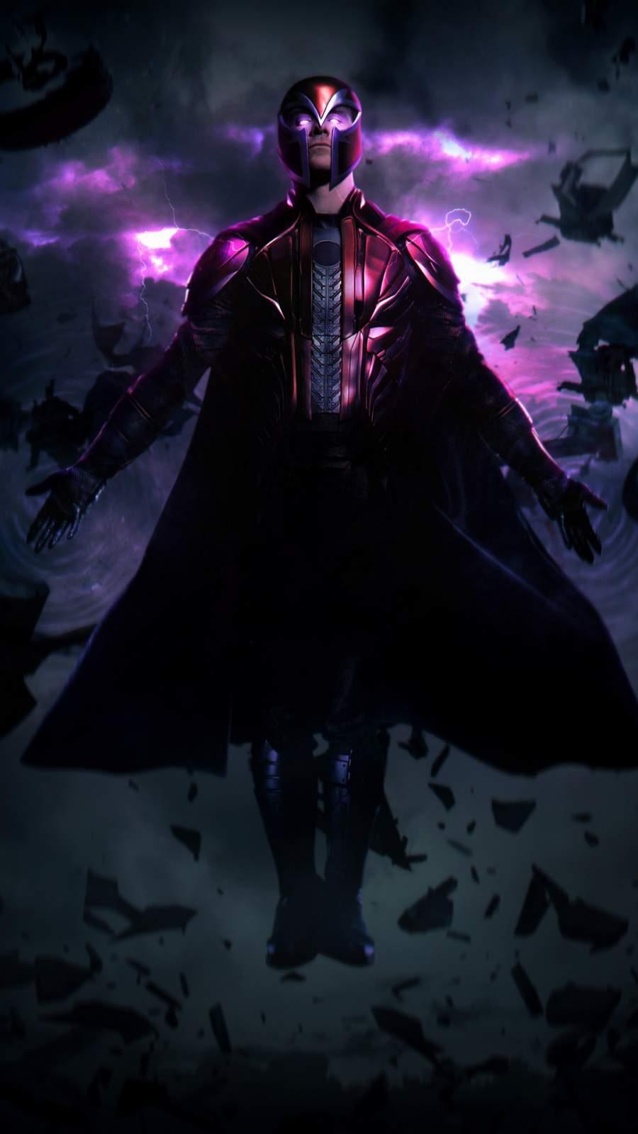 Magneto Artwork iPhone Wallpaper