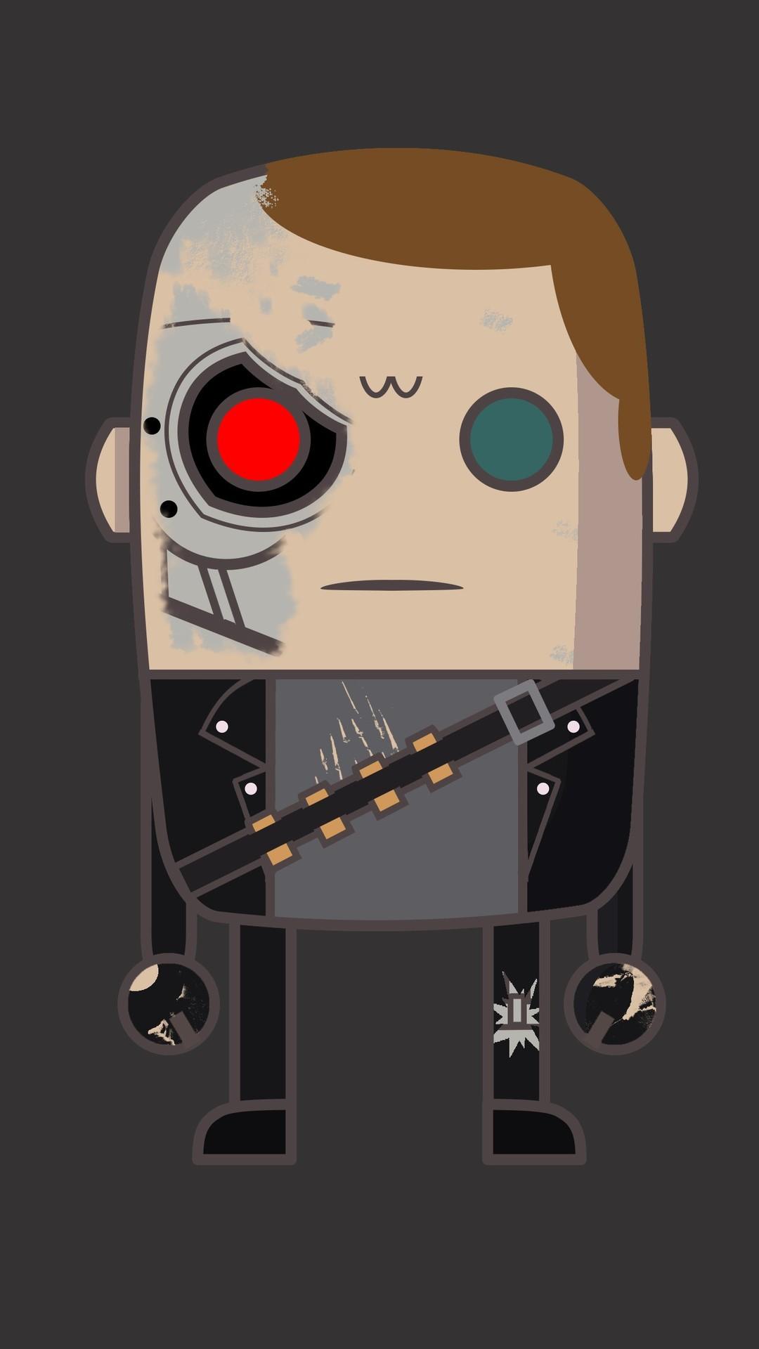 Minimal T800 Terminator iPhone Wallpaper