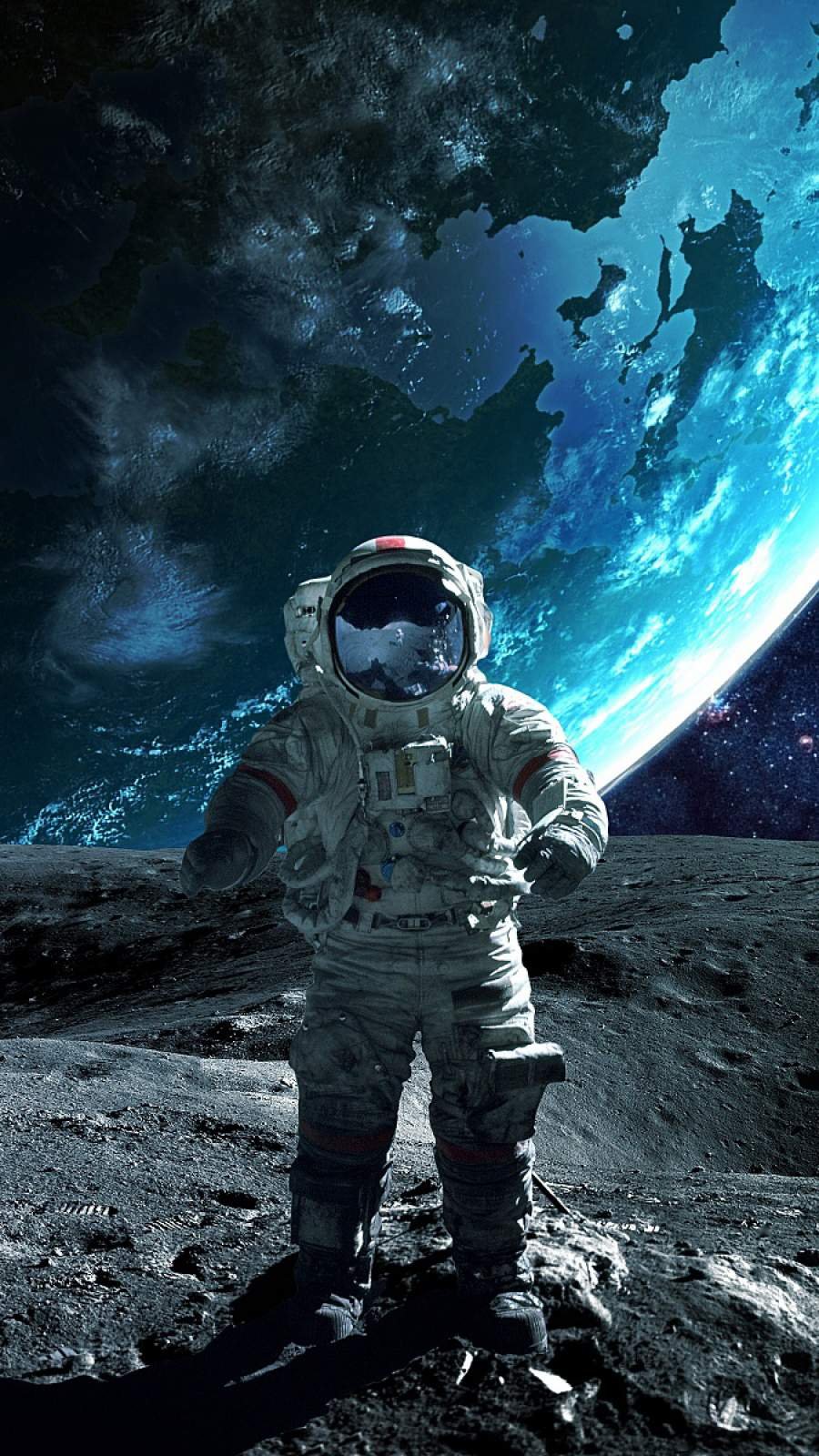Moon Astronaut iPhone Wallpaper