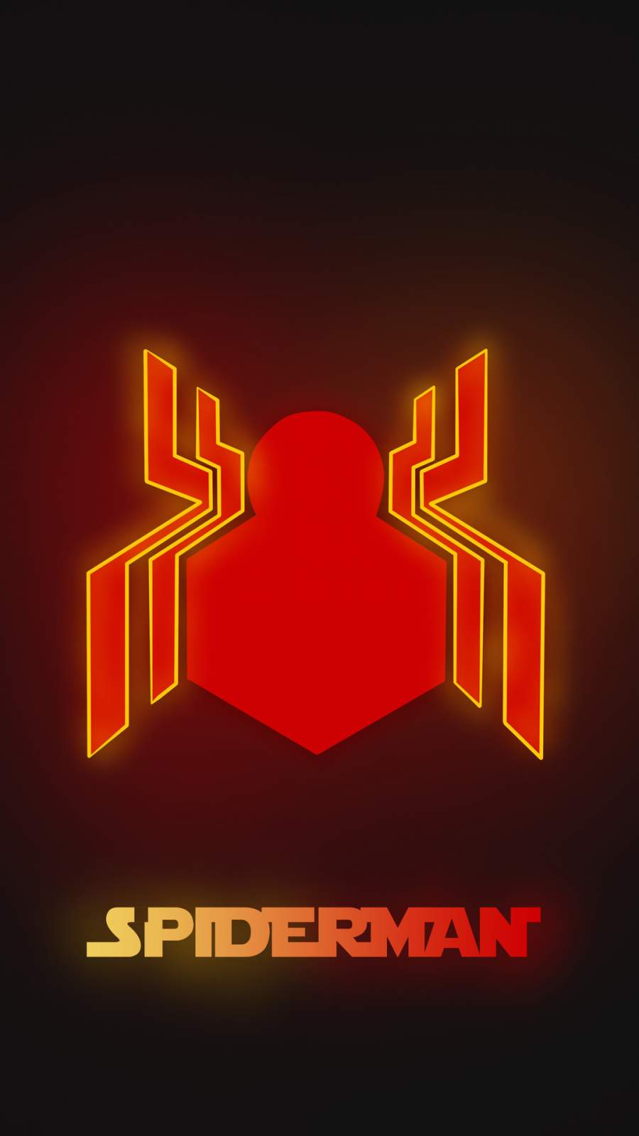 Neon Spiderman Logo iPhone Wallpaper