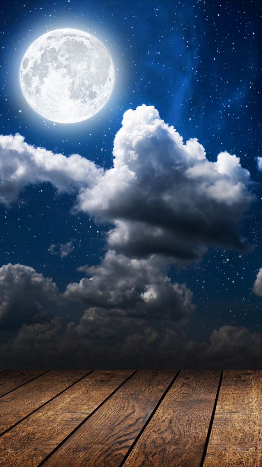 Night Clouds and Moon iPhone Wallpaper