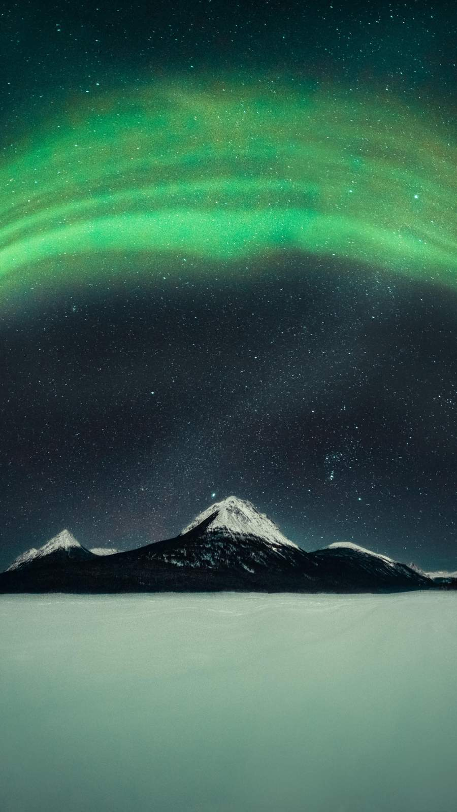 Northern Lights Over Mountain iPhone Wallpaper