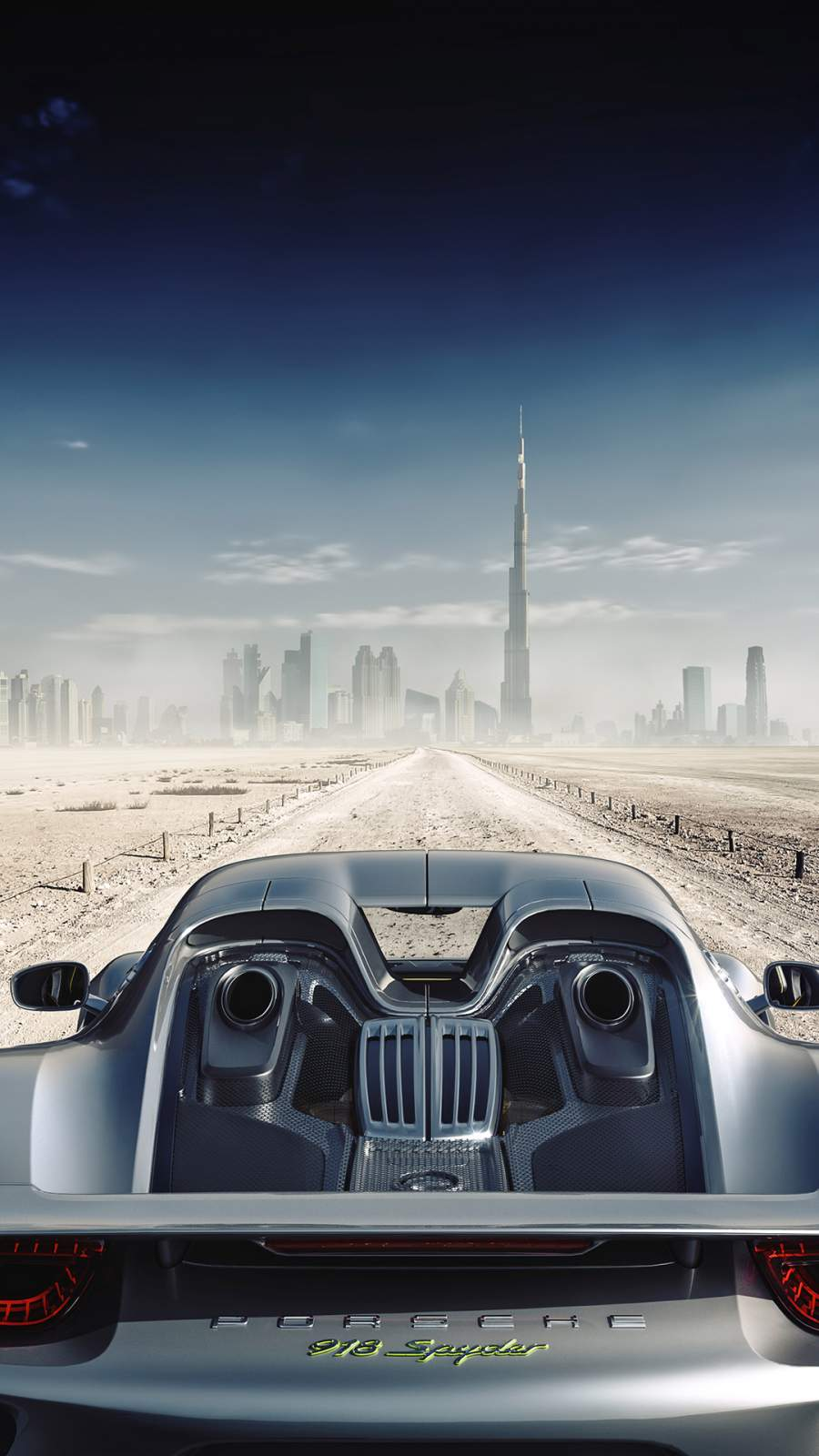 Porsche Spyder in Dubai iPhone Wallpaper