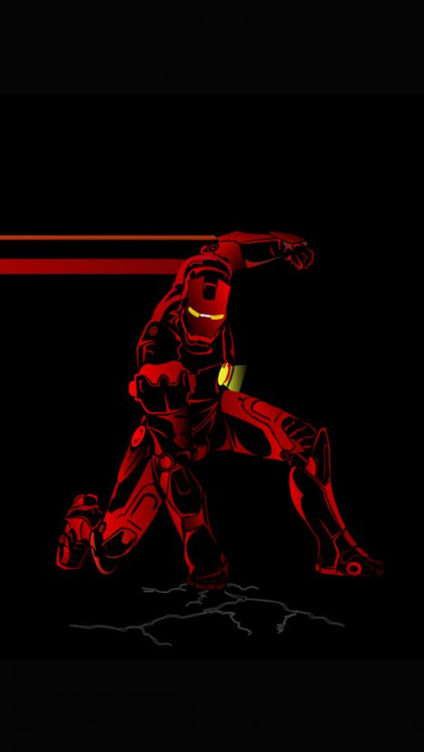 Red Iron Man iPhone Wallpaper