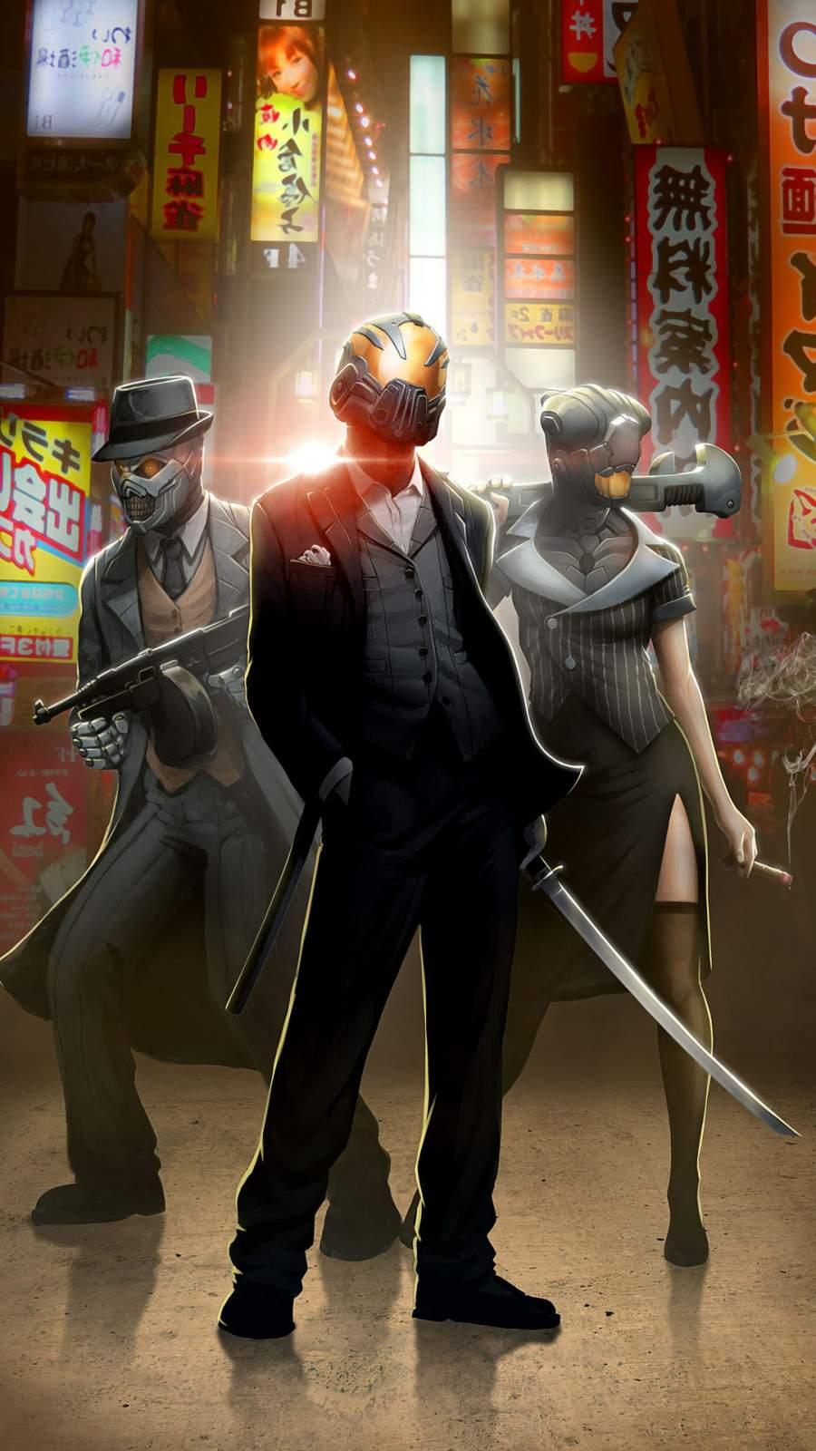 Robot Mafia iPhone Wallpaper