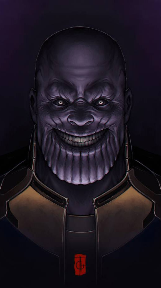 Scary Thanos iPhone Wallpaper