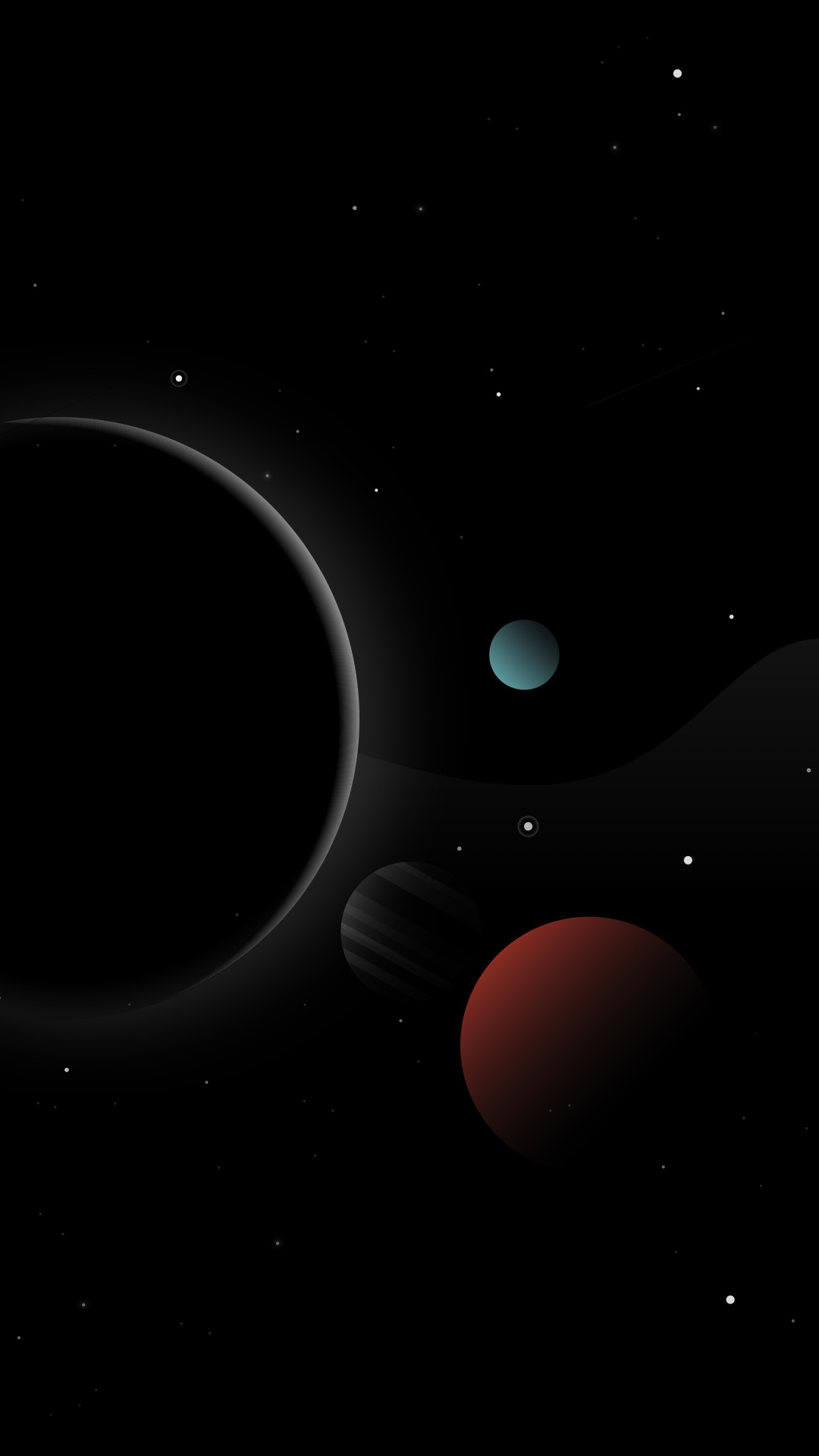 Space Dark iPhone Wallpaper