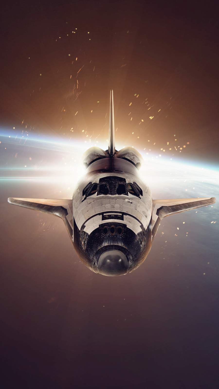Space Shuttle Over Earth iPhone Wallpaper