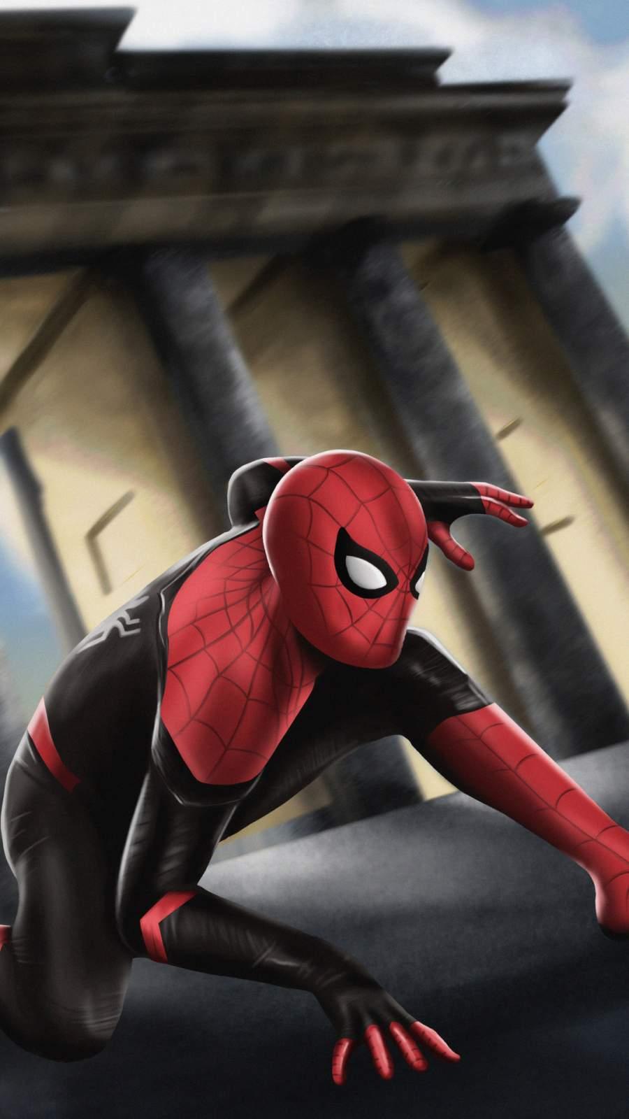 Spider Man Artwork iPhone Wallpaper