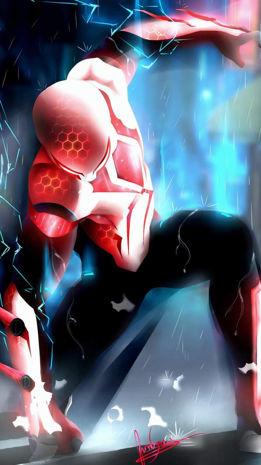 Spiderman 2049 iPhone Wallpaper