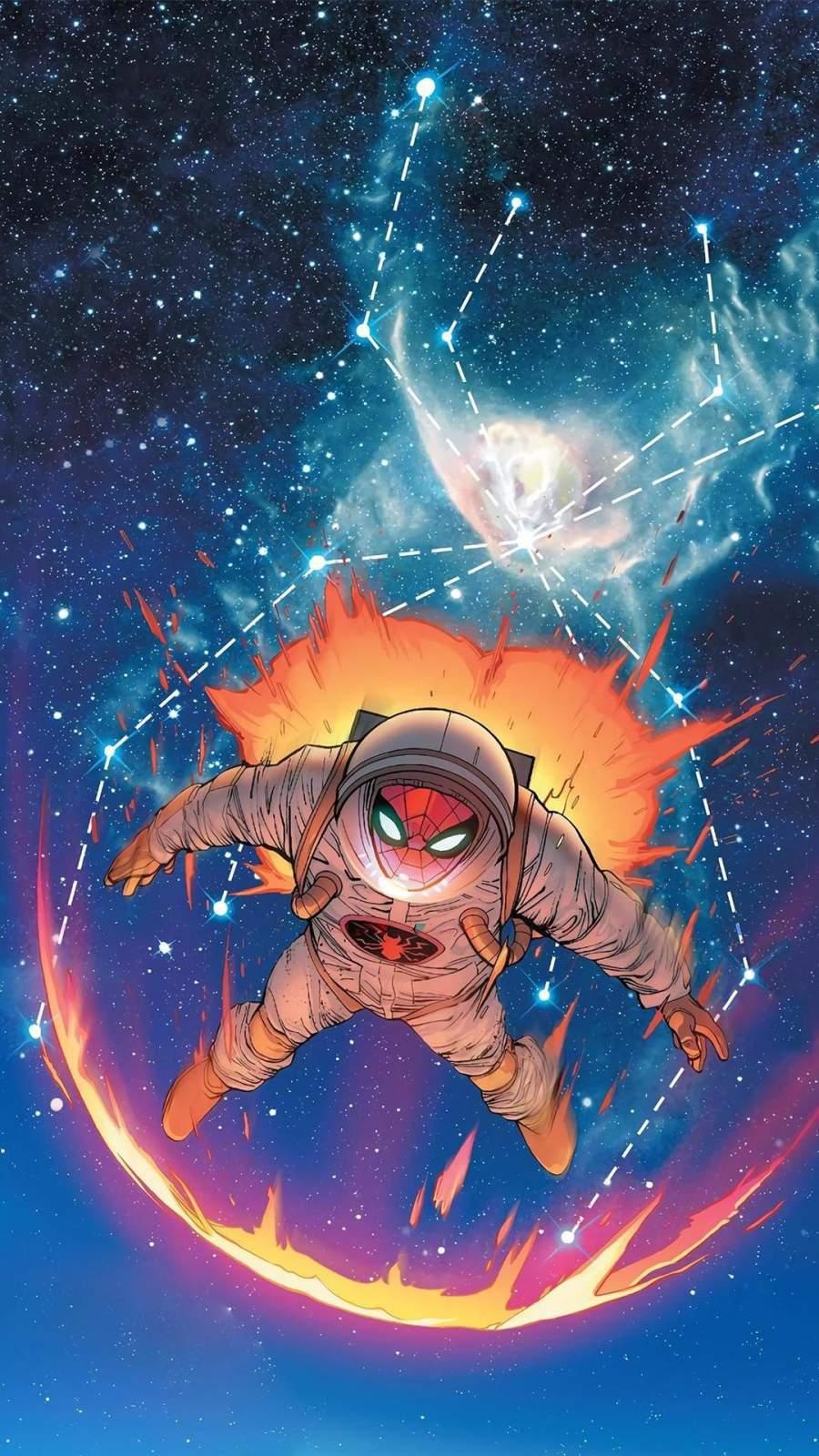 Spiderman Astronaut Suit iPhone Wallpaper