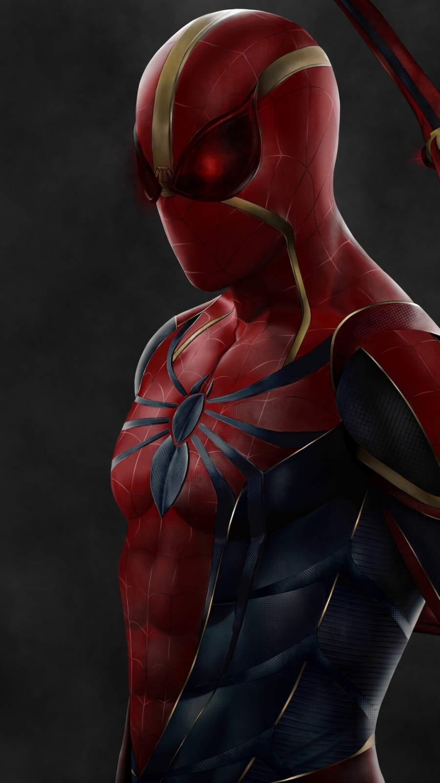 Spiderman Instant Kill Suit iPhone Wallpaper