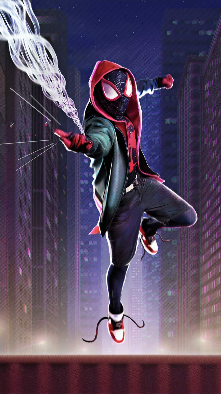 Spiderman Miles Morales Cosplay iPhone Wallpaper