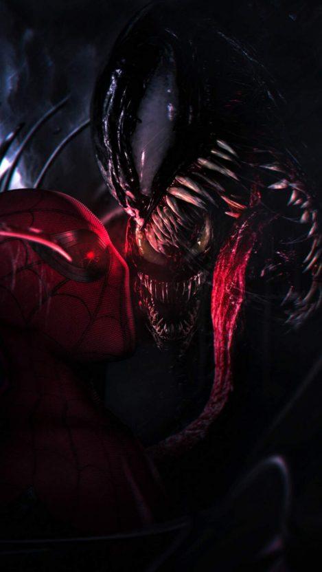 Spidey vs Venom iPhone Wallpaper