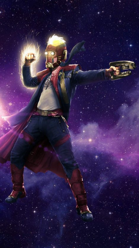 Star Lord Captain Marvel Mashup iPhone Wallpaper