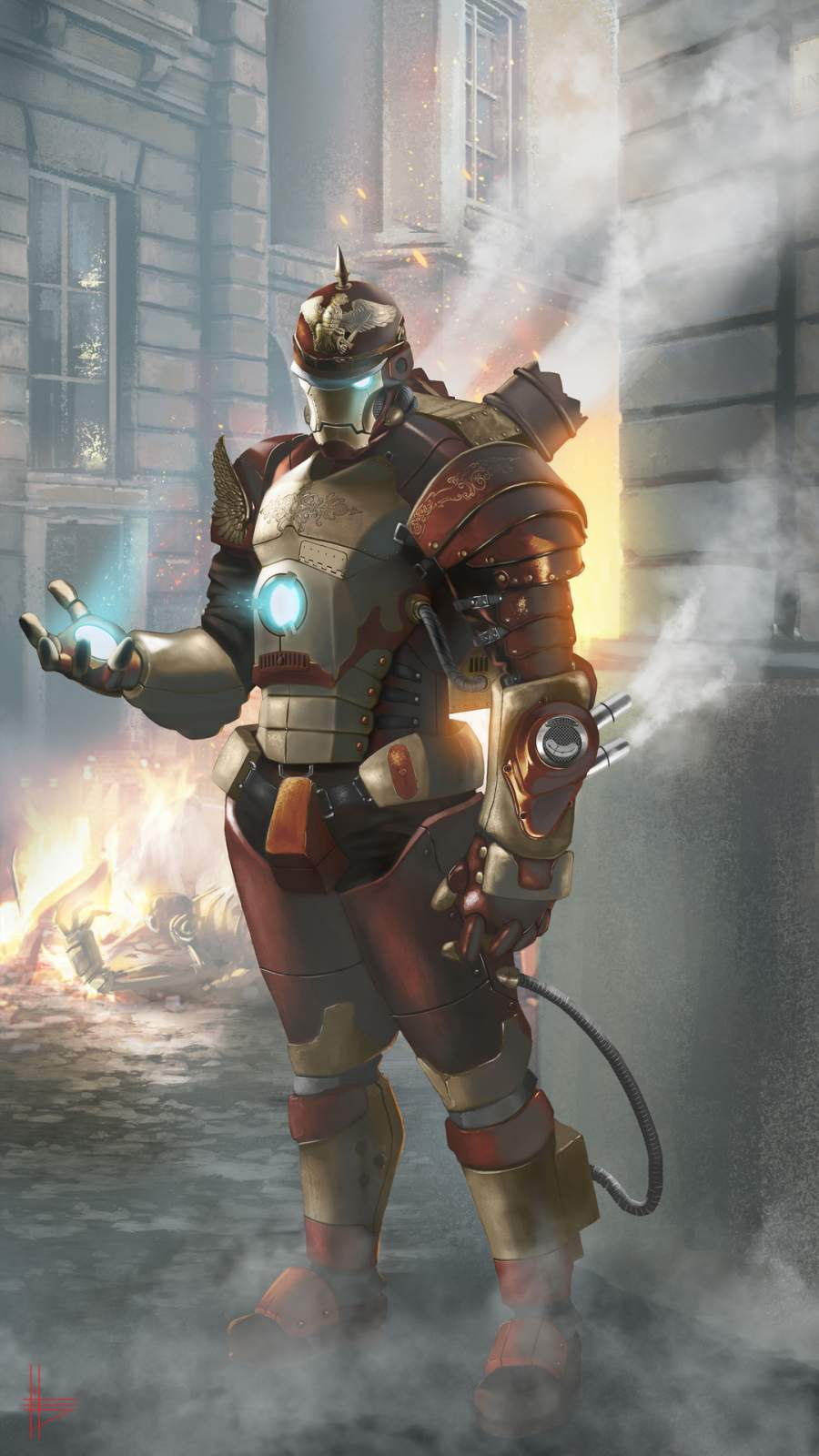 Steampunk Iron Man iPhone Wallpaper