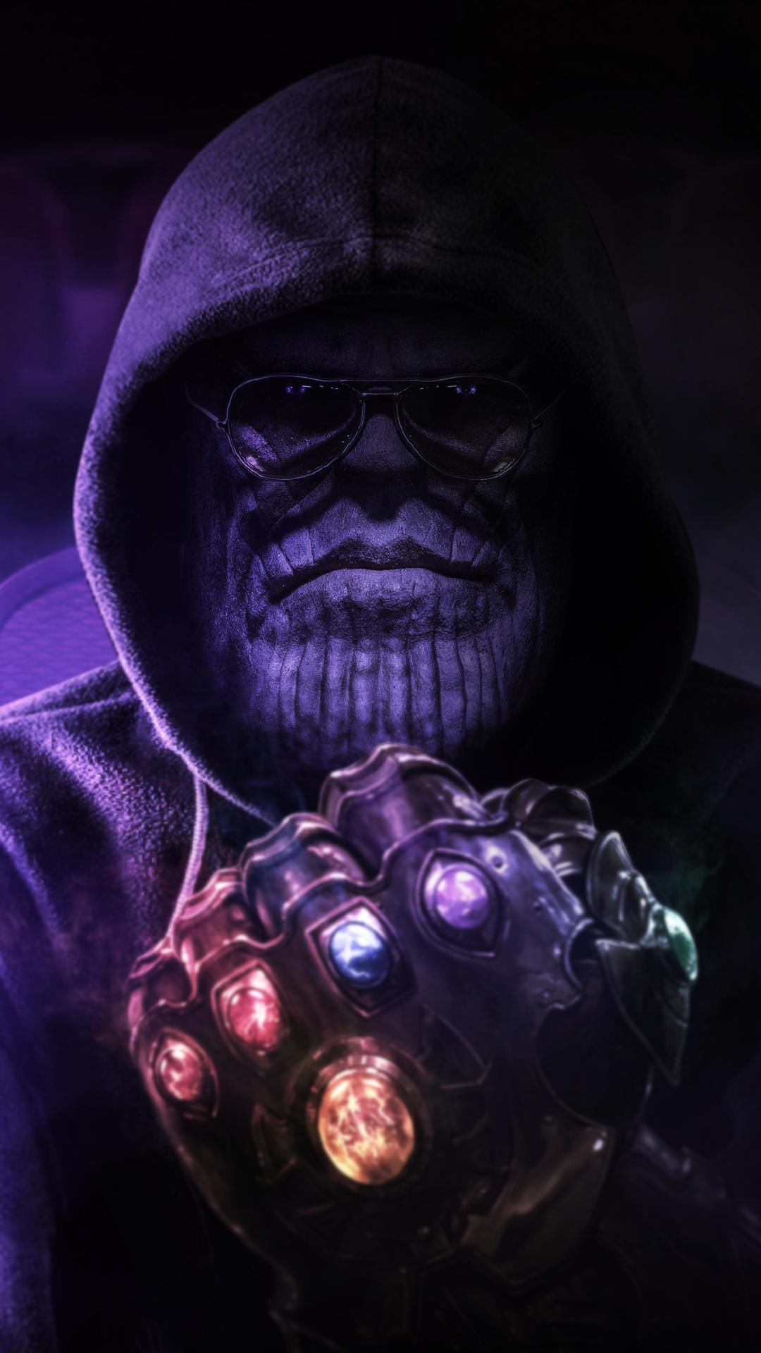 Thanos Fanart iPhone Wallpaper
