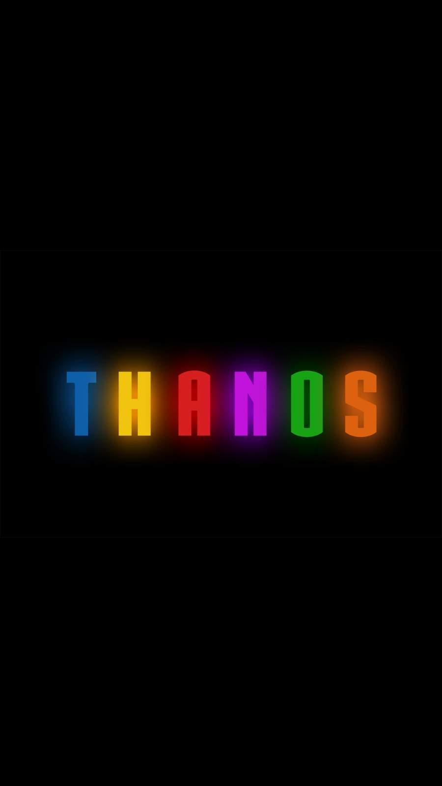 Thanos Logo Artwork iPhone Wallpaper