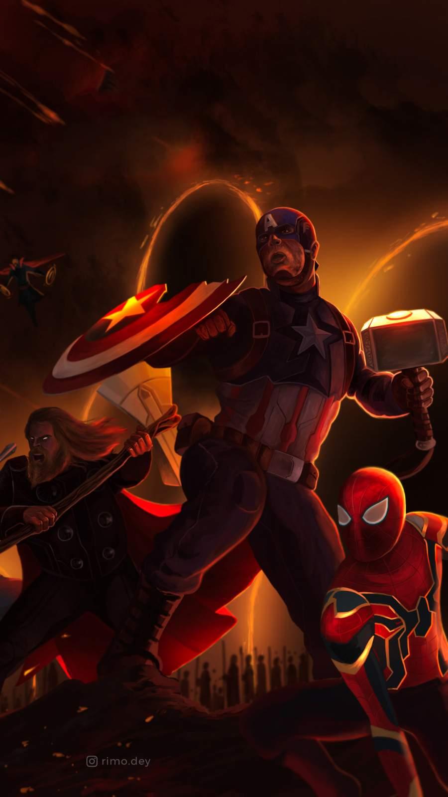 The Avengers Art iPhone Wallpaper