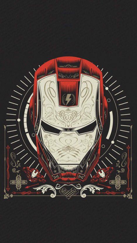 The Iron Man Art iPhone Wallpaper 1