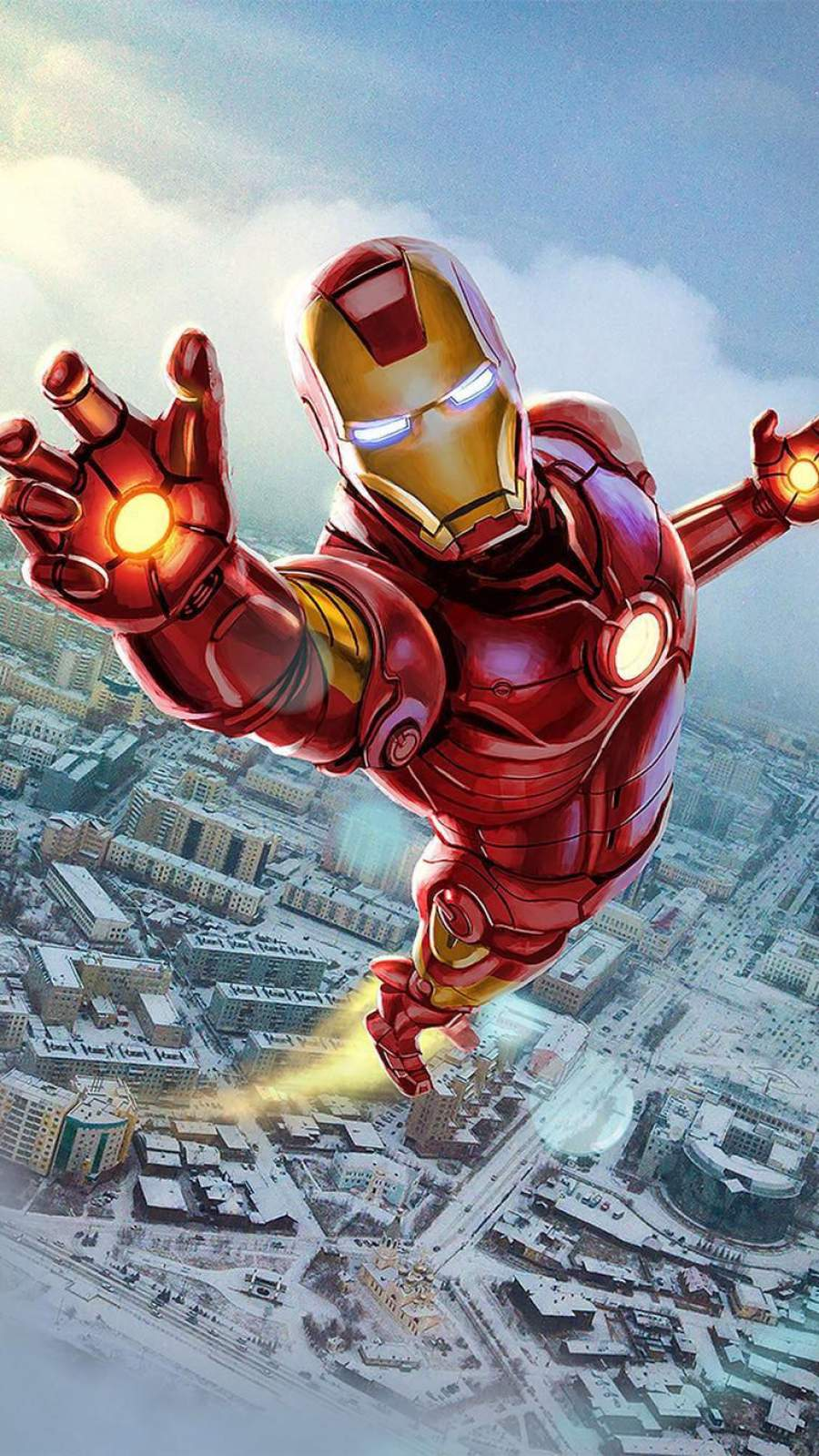 The Iron Man Art iPhone Wallpaper