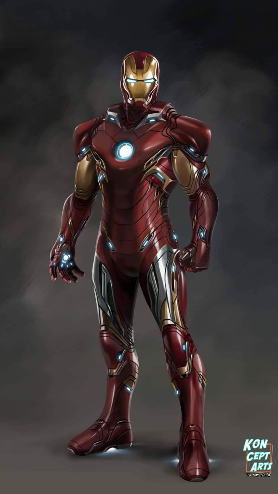 The Iron Man MK 85 Armor iPhone Wallpaper