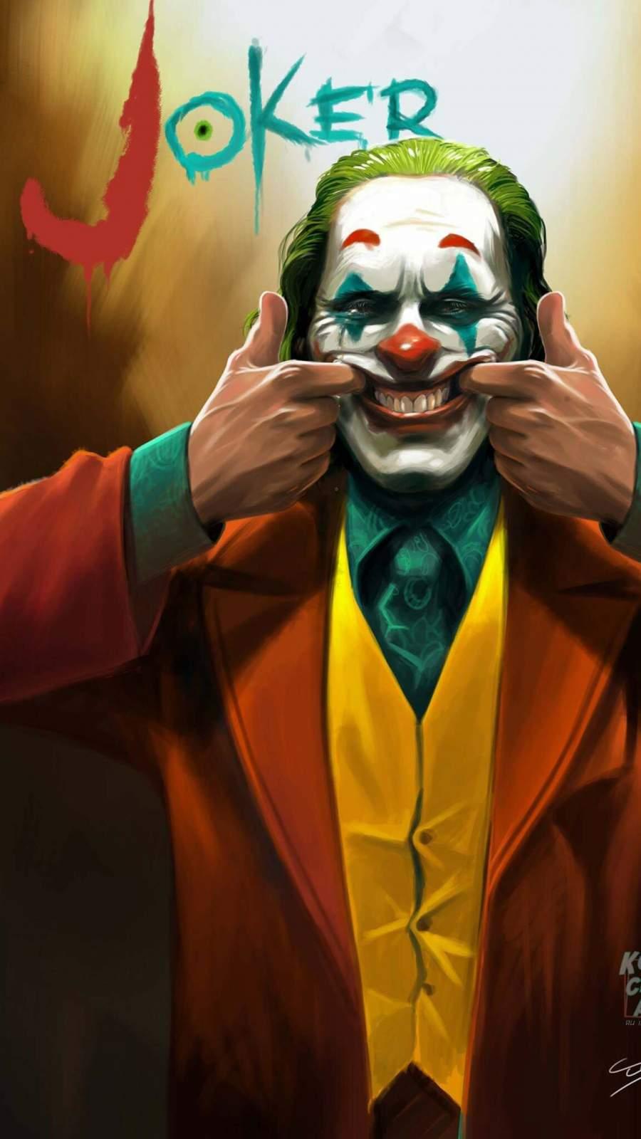 The Joker Smile iPhone Wallpaper