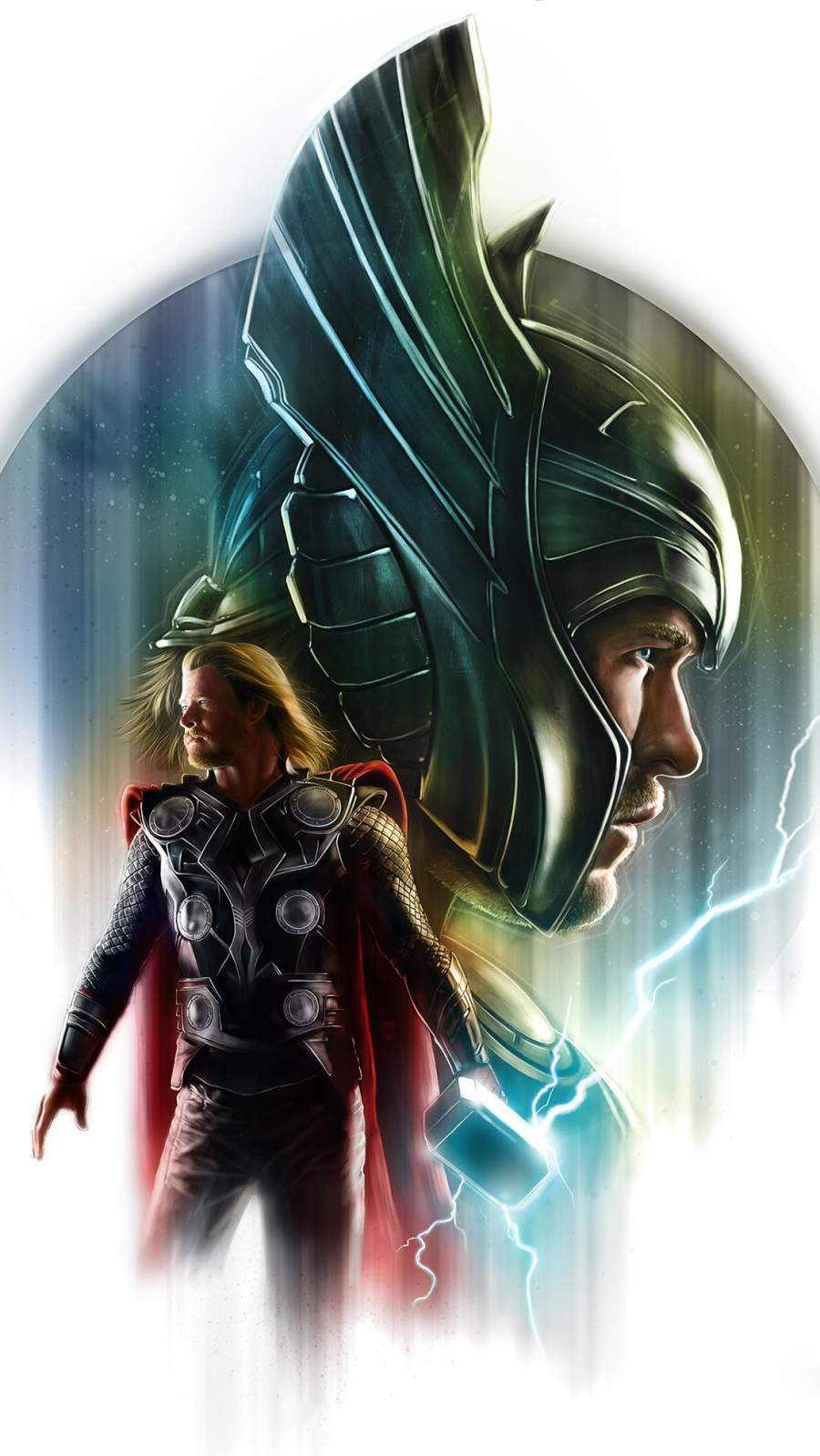 Thor Artwork iPhone Wallpaper