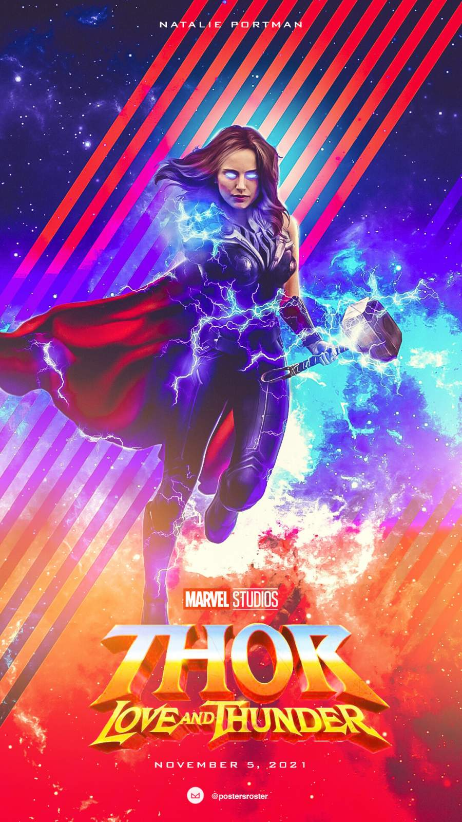 Thor Love and Thunder Natalie Portman iPhone Wallpaper