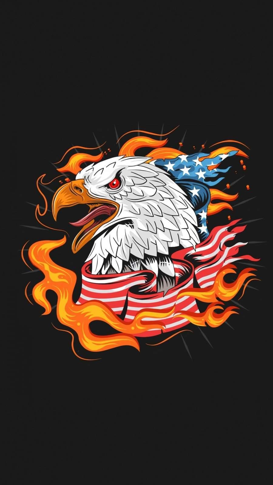 USA Eagle Minimal iPhone Wallpaper