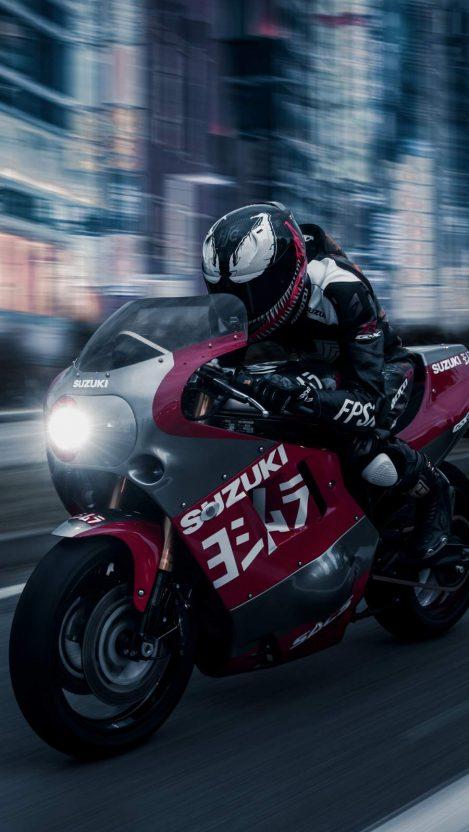 Venom Suzuki Gsx R 1100 iPhone Wallpaper